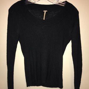 Black free people sweater